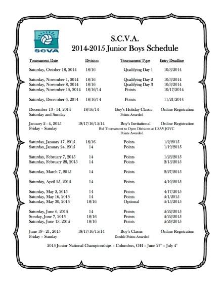 Schedule 2014 2015 Boys copy