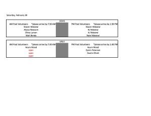 Feb 28 Volunteer List