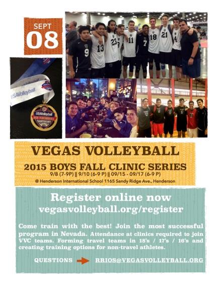 2015 VVC Fall Clinic Flyer